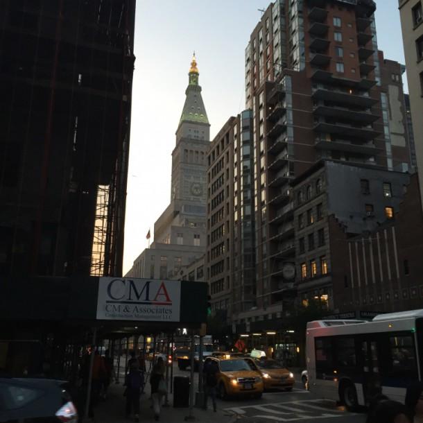 Вечерний Манхеттен