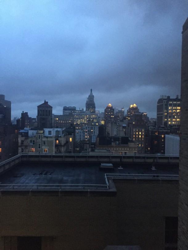 Вечером из окна колледжа